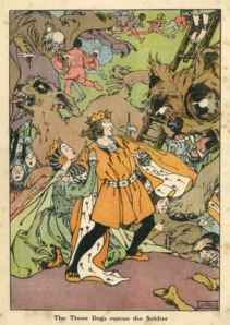 illustration from Hans Christian Anderson's The Tinderbox