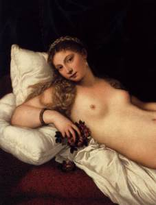 reclining nude by Tiziano