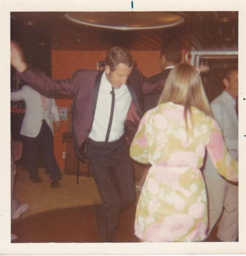 Lyall Watson cutting loose on the dance floor
