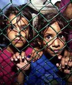 refugee children behind bars