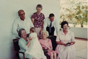 Katherine's christening: seen with grandparents and two great-grandparents.