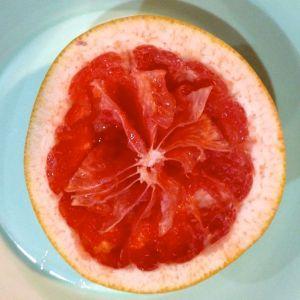 pink grapefruit after eating