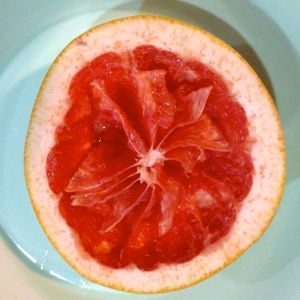 pink grapefruit after eating
